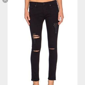 DL1961 Emma Black Distressed Jeans Size 25